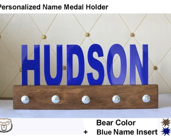Personalized Name Medal Holder,Name Holder,Custom Medal Holder,Coat hanger, Wall Hanger, Wall Holder, Wall Decor