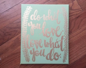 Do what you love love what you do Canvas Wall Art Quote Painting Home Decor Wall Hangings Home Decor Living Room Office Quotes On Canvas