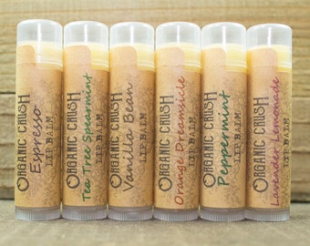 PICK 3 Lip Balms | Organic Lip Balm | Natural Lip Balm | Natural Chapstick | Lip Balm Bundle | Set of 3 Lip Balms