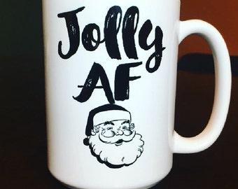 Jolly AF Santa Coffee Mug