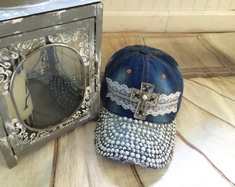 Bling baseball cap,woman's hats, baseball cap,custom baseball cap, cross hat,back to school