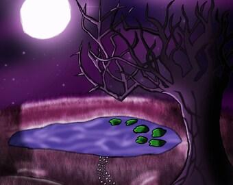 Purple Fantasy - Original Artwork 8.5x11 Print