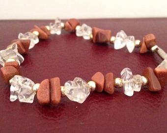 Stone chip bead bracelet