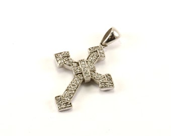 Vintage Beautiful Cross Pendant 925 Sterling Silver PD 1566