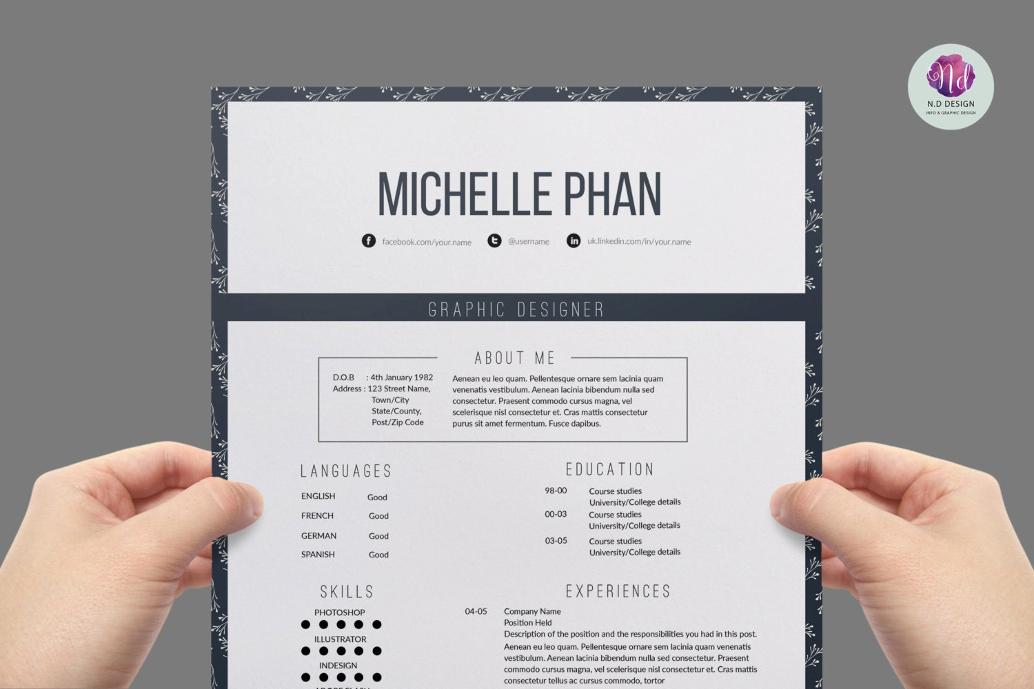 zoom - Vintage Resume Template