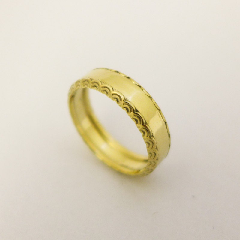 in karat jewelry metallic ring ban gold bands diamond product band normal lyst lynn