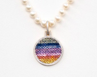 Rainbow Pendant, 32 x 47 mm