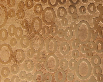 "Patterned Copper Sheet ""Ovals & Triangles"" 2"" x 6"" (choose 18 thru 24ga)  (CSP40XX)"