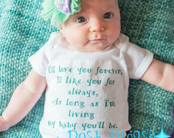 Newborn Take Home Outfit I'll Love You Forever Coming Home Outfit Going Home Outfit Baby Shower Gift Gender Neutral Outifit
