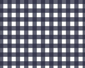 Plaids in Navy - Maribel - Annabel Wrigley - Windham Fabrics - 1 Yard