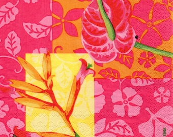 PRETTY flowers EXOTIC 1 paper towel 520
