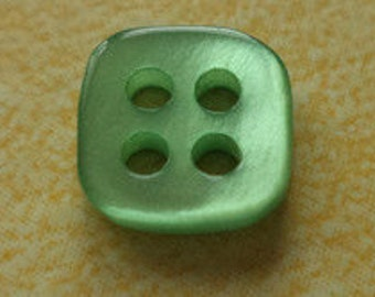 10 small buttons 8mm 10mm Green (2814 2750) button