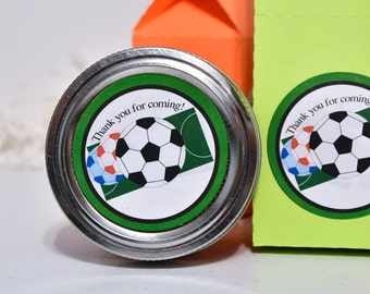60 Soccer Party Favor Stickers, Soccer Waterproof Party Labels, Soccer Birthday Party, Soccer Baby Shower Decoration, Soccer Party Favors