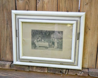 Antique Mezzotype Photogravure Print Confession of Love Engraving Framed with Glass PanchosPorch