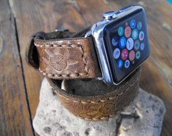 Apple Double Band 38mm 42mm Apple Watch Band Women leather band, double tour wrap, women iwatch band, 38mm apple band, women gift