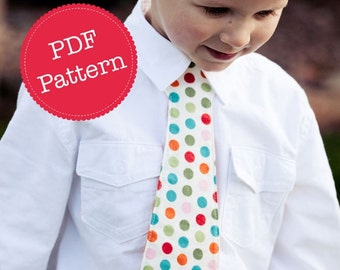 PDF Sewing Pattern for Little Lads' Necktie, Skinny Tie and Wide Tie Styles Included, Make and Sell, DIY by Angel Lea Designs