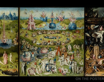 Poster, Many Sizes Available; Garden Of Earthly Delights Triptych By Hieronymus Bosch (C. 1503) Paradise And Hell
