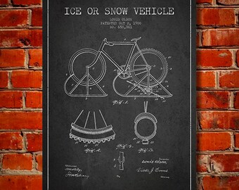 1900 Bicycle Patent Canvas Print, Wall Art, Home Decor, Gift Idea