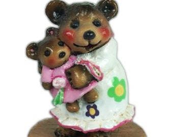 Wee Forest Folk BB-14 Naptime with Dolly - Flower Power Special (RETIRED)