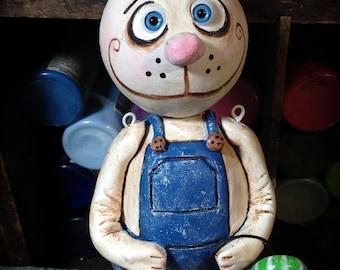 Easter Bunny art doll