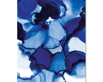 Indigo Blues - A3 Art Print   Made in Australia