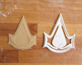 Assassin's Creed cookie cutter, Assassin's Creed logo cookie cutter