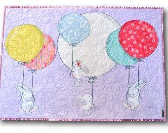 Bunny Baby Blanket * Woodland Blanket * Bunny Quilt * Bunny Baby Quilt * Personalized Baby * Bunny Nursery * Woodland Baby Quilt * Bunny