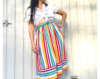 Vintage 70s 80s Cotton Skirt