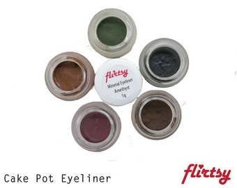 Brown Eyeliner - Warm Brown - Mineral Makep - Homemade - Cruelty Free - Natural | Flirtsy Cosmetics Australia