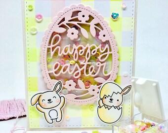 Handmade Easter Card - Shaker Card