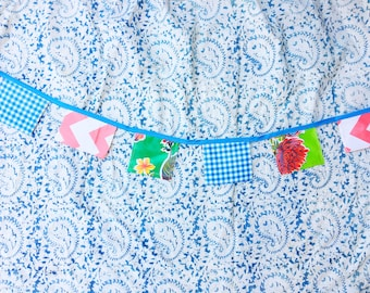 Oil Cloth Banner in Spring Blue