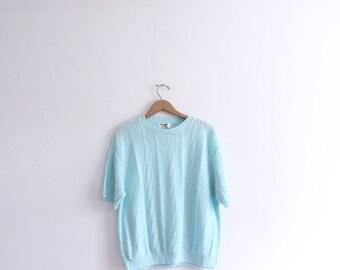 Pastel Mint Loose Knit Sweater