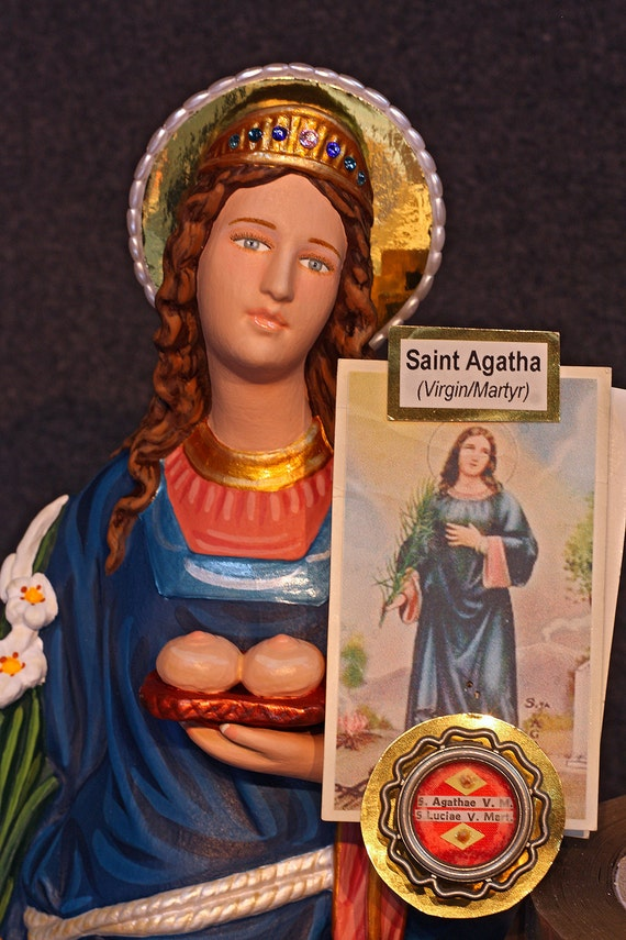 """St. Agatha 18"""" Saint of Breast Cancer Patients"""