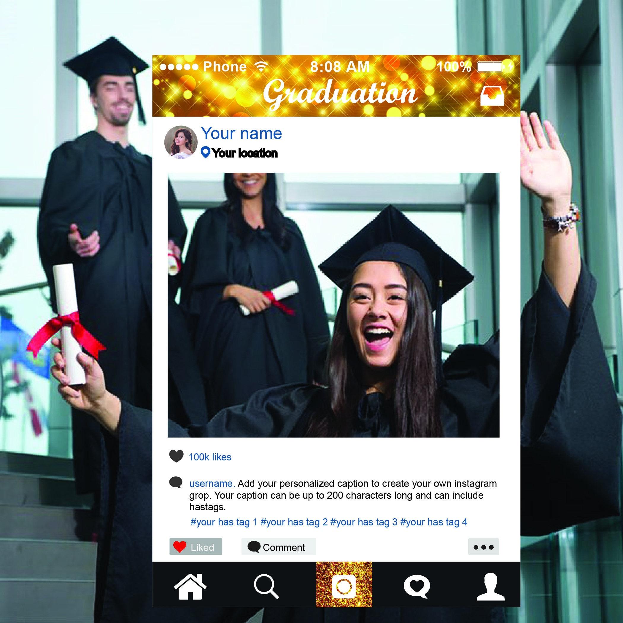 Marco de la graduación Instagram marco foto stand Prop