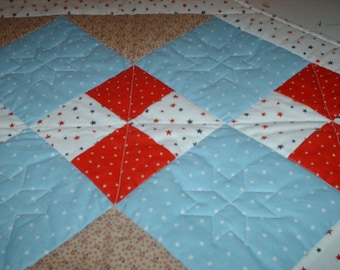 Red, White & Blue quilted table runner