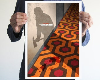 The shining poster,Alternative movie poster,digital print,wall art,horror poster,horror movie,home decor,man cave,jack nicholson,gift ideas