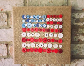 American flag button art