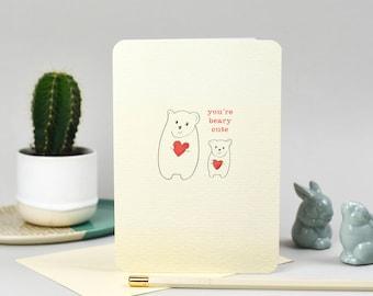 Softly Spoken Beary Cute Card