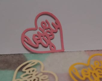 Pack of 30 love you die cut shape for wedding invitations, scrap- booking, card making & crafts projects.