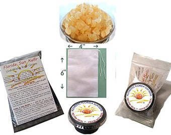 1/4 Cup Large organic water kefir grains tibicos Japanese crystals no fluoride all natural