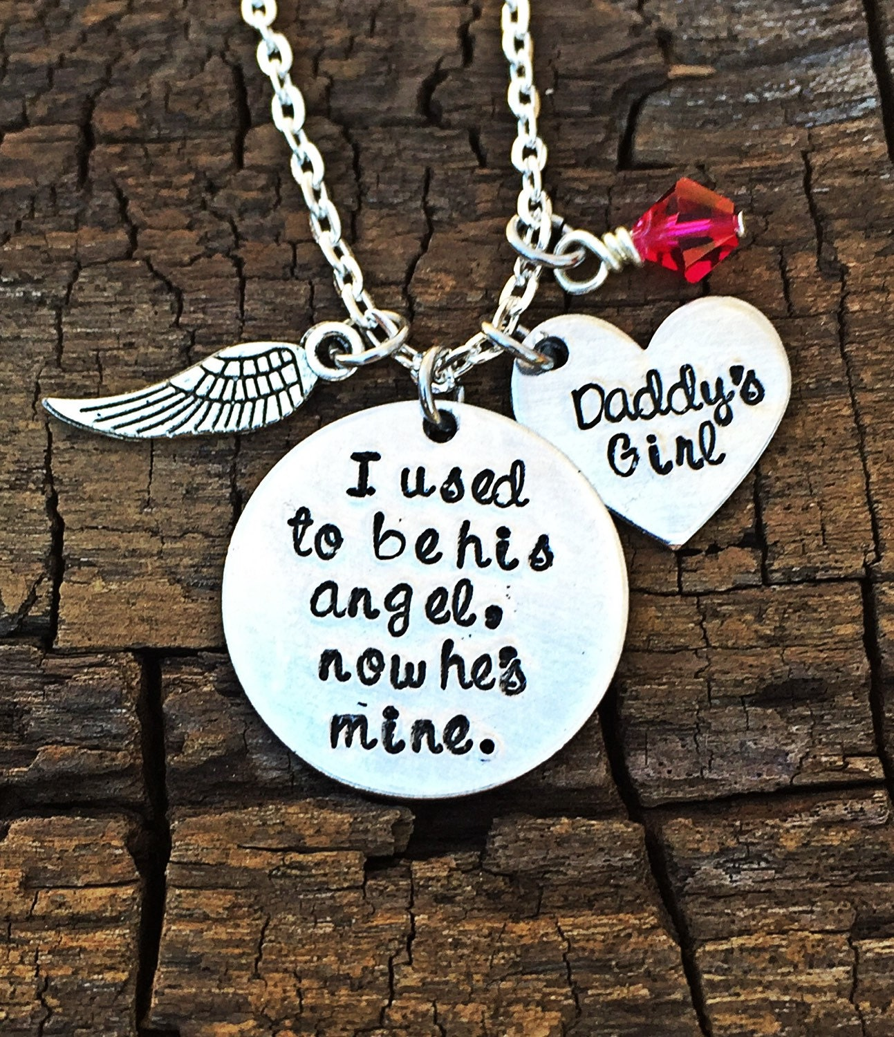 stamped hand heaven double me i original personalized wing watching an a have over necklace angel charm products photo memory