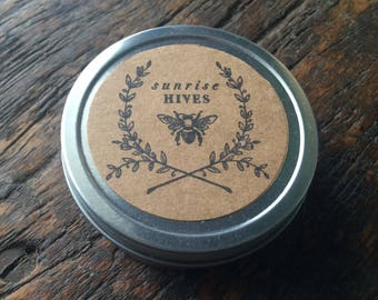 Healing Hand Salve, Foot Rub / Lavender + Mint / Natural Beeswax / Large 70g, 4oz tin