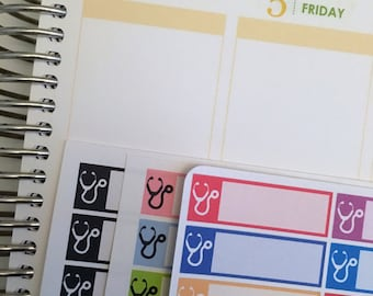 Doctor Forget Me Nots / Doctor Appointment Stickers / Functional Quarter Boxes for Erin Condren Life Planner / Doctor Appointments Stickers