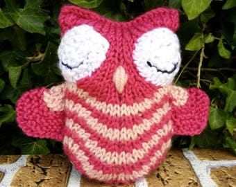 Hand Knitted Owl