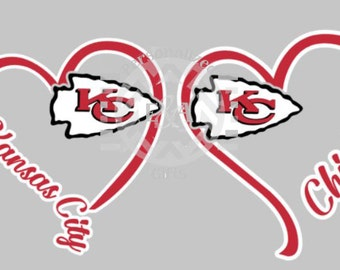 I Heart Chiefs, window decal, Kansas City, football, arrowhead