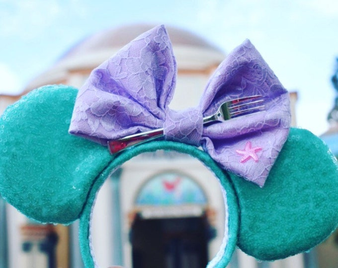 Pastel Mermaid Minnie ears