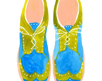 Wing Tips Art Print - Lisa Congdon