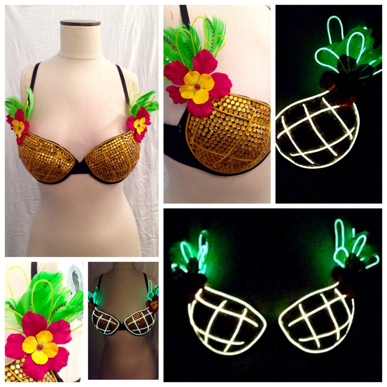 Custom Light Up Pineapple Bra