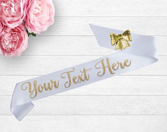 Personalized Satin Sash - Pageant Sash - Personalized Sash - Birthday Party - Bachelorette Party
