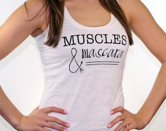 workout tank. workout clothes. missfitte. gym tank. muscles and mascara. fitness apparel. work out tanks. work out tanks for women. fitness.